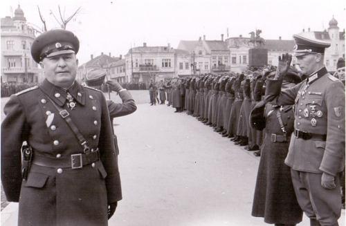 12.03.1944. година, немачко-бугарска војна парада на Тргу Краља Милана, у првом плану бугарски генерал Нико