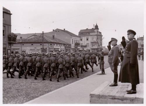 12.03.1944. година, немачко-бугарска војна парада у улици Вожда Карађорђа, у првом плану бугарски генерал Н