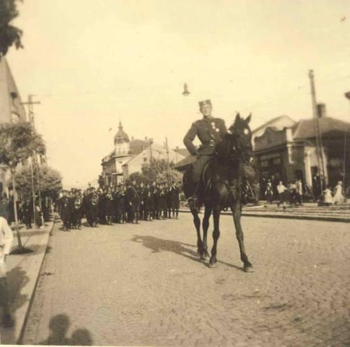 Други светски рат, улица Вожда Карађорђа, на полеђини пише 1943. година