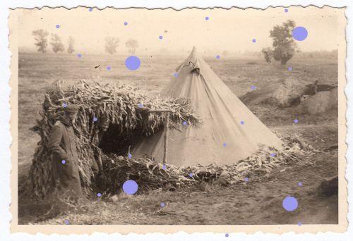 Foto Wh Zelt Lager an der Morave Brücke Niš Nisch Ниш Serbien Srbija WWII